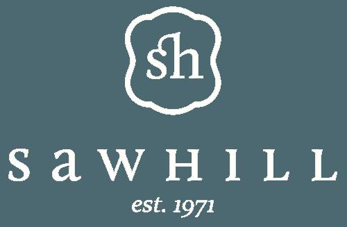 Sawhill white logo